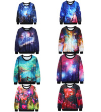 Starry Sky Print Training Sweaters Harajuku Galaxy Sweatshirts Autumn Outwear Hoodie Winter Oversized Jacket Coat Women Pullover(China)
