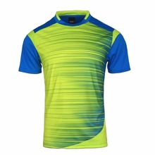 High Quality 2017 Football Shirts Thailand Men Soccer Jerseys Shirts Badminton Training Shirts Jogging Football Running Shirt(China)
