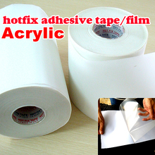 10M length/Lot ,32CM wide Hot fix paper & tape adhesive iron on heat transfer film super for HotFix rhinestones DIY tools Y2644(China)