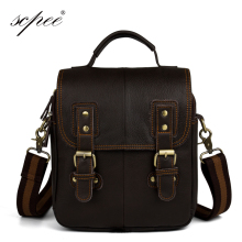 SCPEE New Retro Men's Leather Bags Men's Messenger Bag Travel Bags Safes Leather Bags Men's Free Shipping Hot Deals
