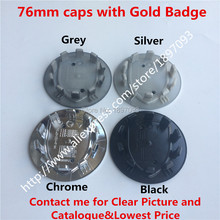 Free By DHL 2000pcs 76mm New Car Styling  Silver/Grey/Black/Chrome wheel Centre Cap Caps Cover Badge Emblem Auto Logo