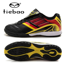 Chinese TIEBAO Professional Outdoor Sports National Flag Soccer Boots TF Turf Soles Football Shoes Training Sneakers EUR 39-44