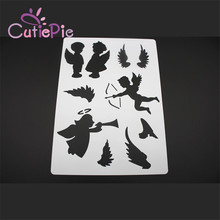 CUTIEPIE Sweet Angel Layering Stencils For Walls Painting Scrapbooking Stamp Album DIY Crafts Decorative Embossing Paper Cards