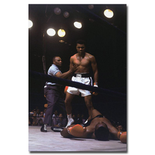 "Muhammad Ali-Haj Boxing Boxer Champion Art Silk Fabric Poster Print 12x18 24x36"" Sports Pictures For Bedroom Decor 004"
