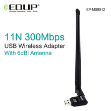 usb wifi adapter 300mbps high gain wifi antenna 6 dBi long distance wi-fi receiver usb lan enthernet netwotk card 802.11n for PC