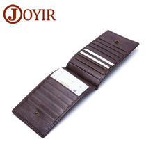 JOYIR Genuine Leather Men Credit Card Holder Business Male Wallet Fashion Purse Card Holder Long Clutch Wallets Men Gift K003