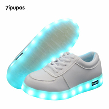 Fashion Glowing sneakers Usb charging Kids shoes led Slippers do with Lights Up Boy Girls Led tenis simulation Luminous Sneakers