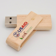 50PCS/LOT Wooden Twister USB Flash Drive Real 4GB 8GB 16GB 32GB Full Color Logo Printing Pen Drive For Promotional Gifts