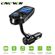 12-24V FM Transmitter Wireless Bluetooth V3.0 Car Kit MP3 Player Hands-free Call Wireless Modulator with LCD 2.1A USB TF Slot(China)