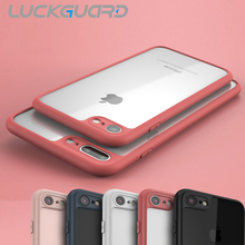 For iphone7 Case iphone 7 Plus Phone Accessories Shockproof Transparent PC Back Cover Luxury Soft Silionce Edge Bumper Fram Capa