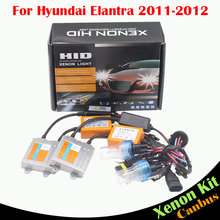 Cawanerl 55W Car No Error Ballast Bulb AC Canbus HID Xenon Kit Headlight Low Beam 3000K-8000K For Hyundai Elantra 2011 2012