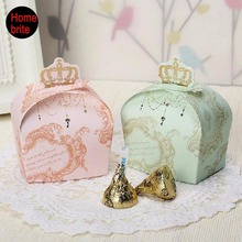 Buy 20pcs Crown Candy Box Wedding Favors Gifts Guests Paper Box Children Birthday Party Christmas Casamento Decoration PT076 for $2.84 in AliExpress store