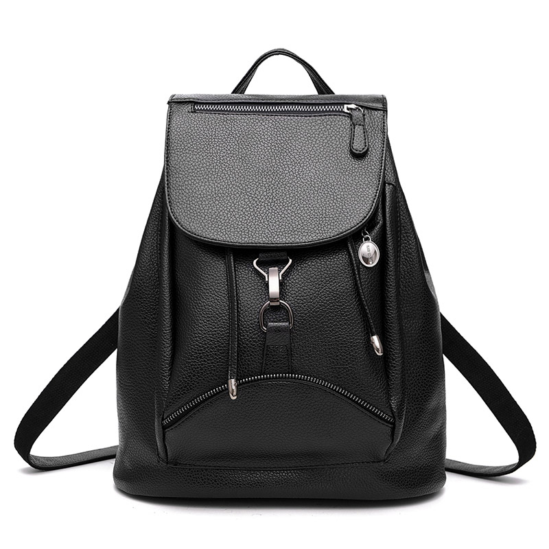 Mini String Black Leather Backpack School Bags For Teenagers Girls 2017 Bagpack Women Mochilas Escolares Adolescentes Femininas<br><br>Aliexpress
