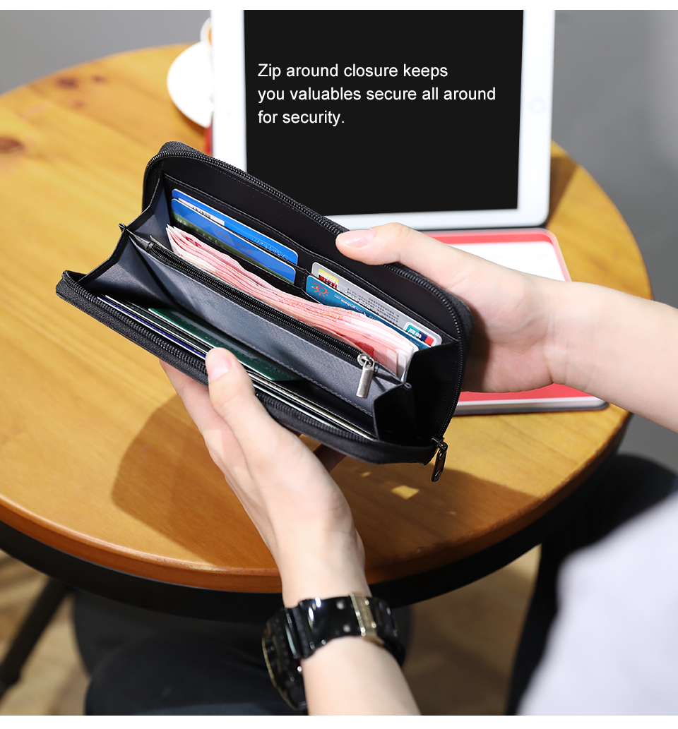 2.Fashion 2018 Men Wallets Mens Wallet with Coin Bag