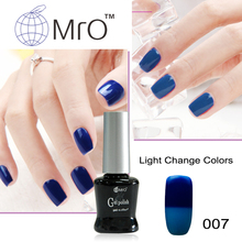 MRO 2 pieces/lot Light changeable uv gel nail polish set gel lucky color gel nail lacquers esmaltes permanentes de uv glue(China)