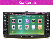Free Shipping 2007.2008.2009 year KIA cerato car dvd players with GPS Bluetooth Tv Radio Ipod Gift Map Card