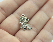 WYSIWYG 10pcs Antique Silver Color 18*12mm Dragon Charms For DIY Handmade Jewelry(China)