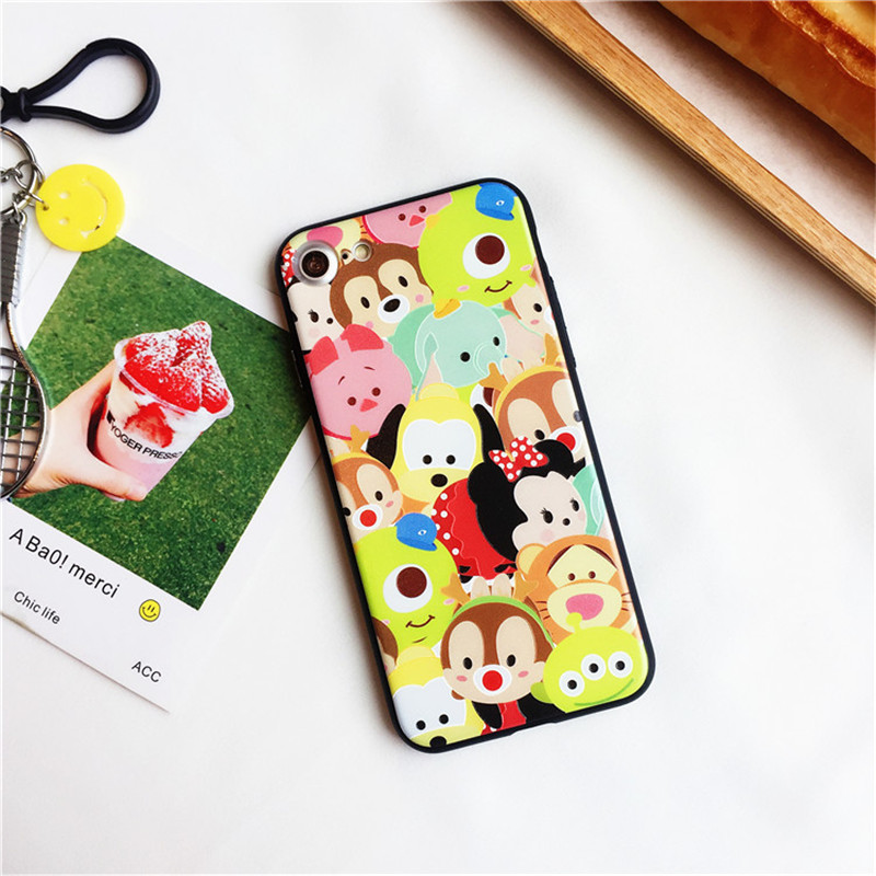 Excellent Relief Case Cover For iPhone 6 6 Plus 7 7 Plus Cartoon Figures Toy Story Q version Monsters Inc Electroplate-090128