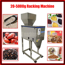 Good quality 20-5000g Intelligent grain packaging machine dog food granule filling machine Semi-automatic powder Racking Machine
