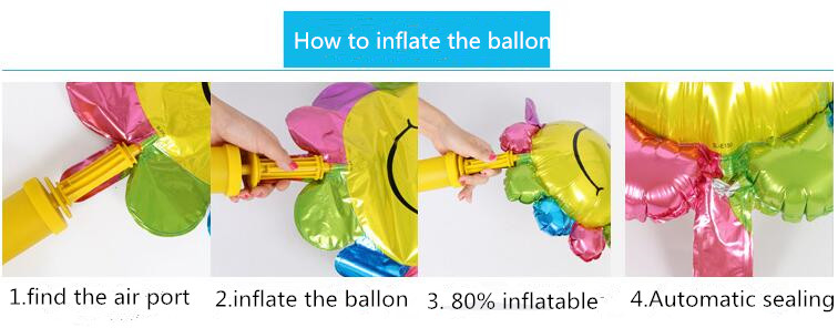 foil balloons inflate process