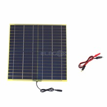 ELEGEEK 18V 15W Solar Panel Polycrystalline Silicon Solar Cell Solar Panel Charger with Crocodile Clip for DIY Solar System