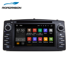 RoadRision 2din Android 7.1.1 Car DVD Player for Toyota Corolla E120 2003-2006/BYD F3 Black with Wifi Bluetooth RDS GPS Sat Navi(China)