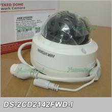 Original Oversea English Version DS-2CD2142FWD-I 4MP 30M IR IP67 IK10 WDR Fixed Network Dome Camera Upgradable