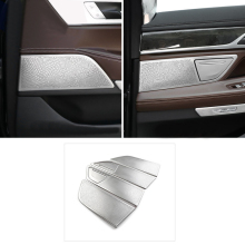 Interior Accessories Stainless Steel Speaker Mesh Covers Decorative Trim Frame For BMW 7 Series G11 G12 2016-2018(China)