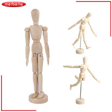 3 Kinds Joints Wood Wooden Mannequin Toy Wooden Puppet Wooden Manikin Home Decoration Model,Painting sketch Free shipping