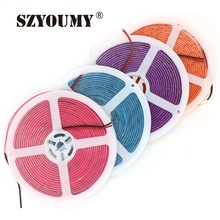 SZYOUMY 5630 SMD Neon LED Strip Rainbow Light Purple/Pink/Green/orange/Blue Waterproof 300 Leds Fluorescent Color New Arrival