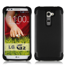 For LG G2 Case Armor Luxury Cool Anti-knock Slip-Proof Texture 3D Phone Case For LG G2 G 2 Back Cover Silicone