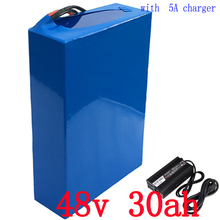 Free shipping  Electric Bicycle Battery 48V 30Ah 2000W Lithium Battery Built-in 50A BMS  electric Bikes Motor 5A Charger