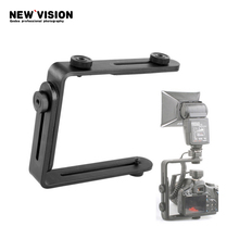 Dual-L Universal Adjustable Flash Bracket For Canon Nikon Sony Pentax Camera