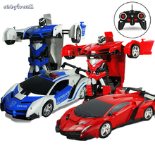 2 In 1 Transformation RC Car Models Toy Remote Control Classic Figures Deformation Robots Toys Fun New Years Gift Toy For Kids(China)