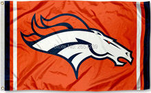 Denver Broncos orange colum Flag 3x5FT NFL banner150X90CM 100D Polyester brass grommets custom flag, Free Shipping(China)