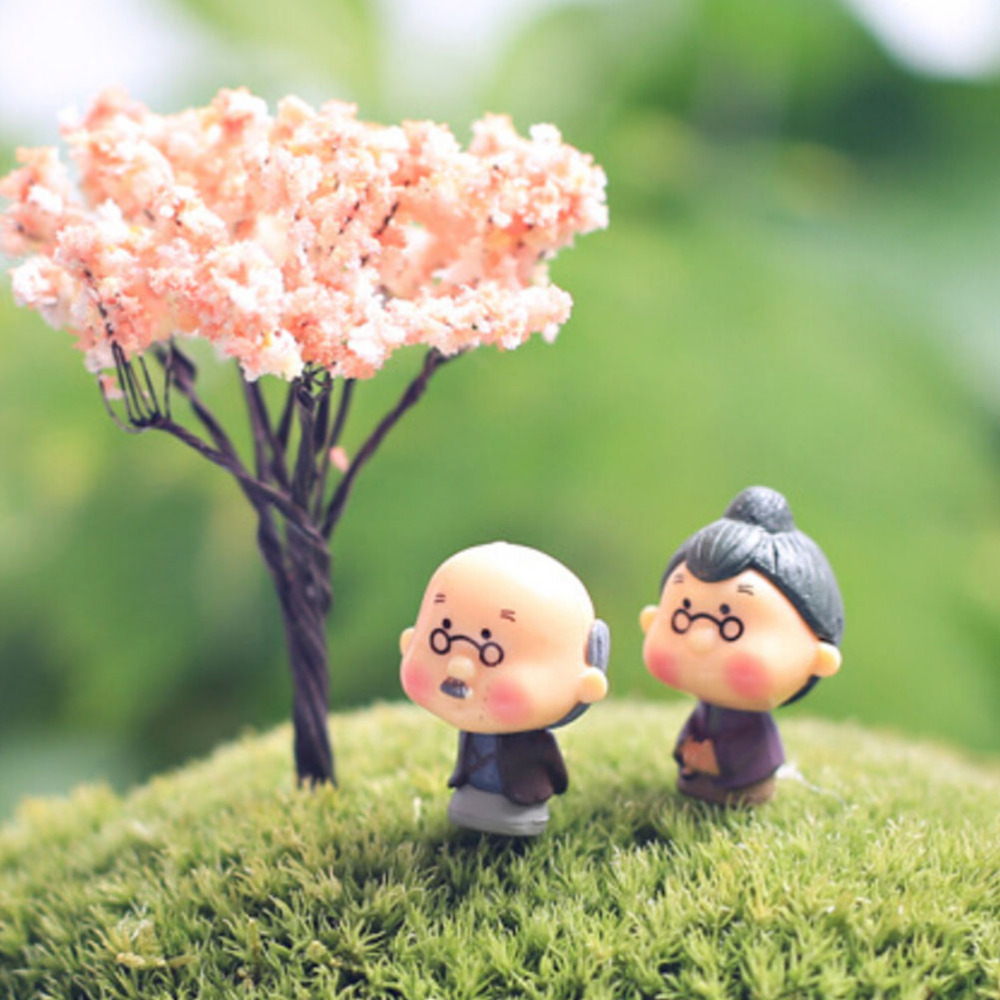 2X//Set Mini Couples Doll Fairy Garden Miniature Decor Dollhouse Action FiguresS*