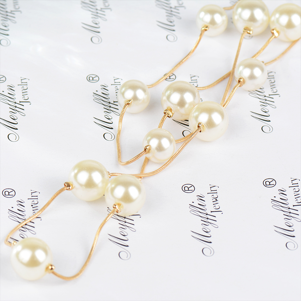 HTB1YnnkSpXXXXaNXXXXq6xXFXXXW - Simulated Pearl Jewelry Collier Fashion Long Necklaces & Pendants Big Multilayer Christmas Gifts Gold for Women Collares Bijoux