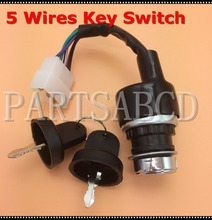 5 Wires Ignition Start Key Switch 50CC 110CC 125CC 150CC 250CC ATV Quad Go Kart Buggy Parts(China)