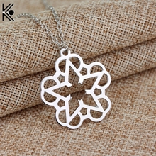 French Romantic style Rock Band Black Veil Brides necklaces pendants stars & flower shape maxi long necklace Wedding Brand gift
