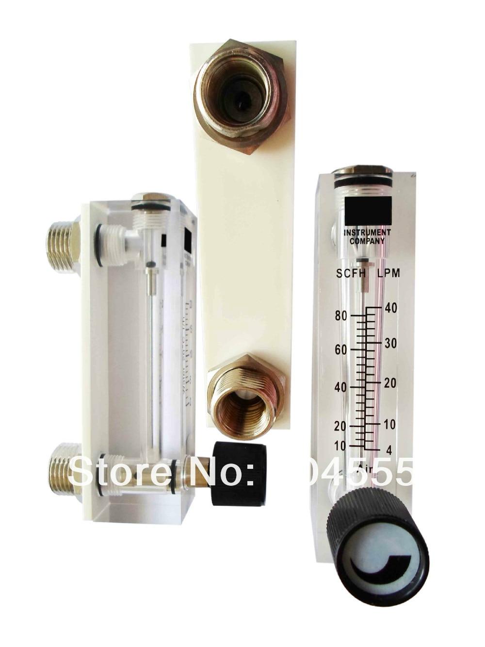 Panel water flow controller water flow meter liquid flowmeter with adjustable valve 2-20L/Hour water flow meter<br>