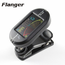 Flanger Guitar Tuner Color Screen Digital Tuner With Clip On Design For Chromatic Guitar Bass Ukulele Violin Portable FT-12C(China)