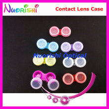 100pcs Good Quality  Contact Lens Case Lenses Contact Box C302 Free Shipping