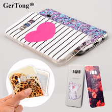 GerTong Case For Samsung Galaxy S8 Plus S7 S6 Edge S5 S4 S3 Grand Prime J1 Mini 2016 Note 4 5 Fruit Animal Printing Phone Bag