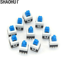 50PCS 6 Pin Square 7mmx7mm New Product DPDT Mini Push Button Self-locking Switch free shipping
