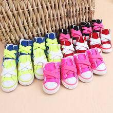 4pcs/set Dog Shoes socks Pet Shoes Anti-skid Water proof wall dirty Fashion cute Dog shoes Dog Supplies Pet Products Accessories