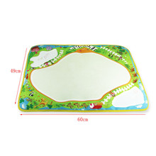 New Baby Kids Infant Learning Toy  49*60CM Water Drawing Painting Writing Mat Board Magic Pen Doodle Gift Papelaria Caneta
