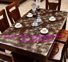 1.0mm thickness tea table mat heat insulation pad PVC waterproof oil hot plastic tablecloth printing crystal  board soft glass