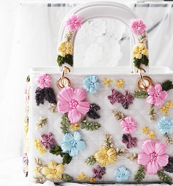 Diamond handmade one shoulder handbag womens handbag rhinestone flower bags womens bag<br><br>Aliexpress