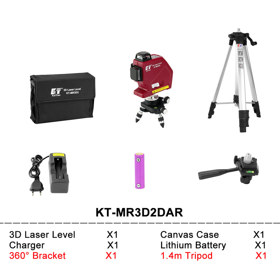 Kaitian Laser Level MR3D2DAR SET