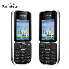 Original Nokia C2-01 Unlocked Mobile Phone C2 Refurbished GSM/WCDMA 3G Phone Free Shipping